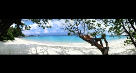 similan island nr. 4 beach panorama