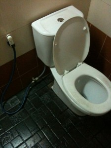 WC / Toilette / Klo in Thailand