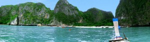 Maya Beach vom Boot